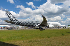 The newest Airbus A350 XWB at the airfield. Royalty Free Stock Photography