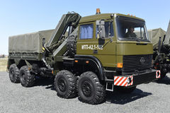 The newest Evacuator for military equipment. Kadamovskiy, Russia, September 11, 2016. Forum `Army-2016`. Entry and shooting free royalty free stock photo