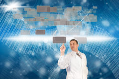 The newest Internet technologies. In the field of space research Stock Photography