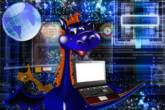 The newest Internet technologies. The newest the technology Internet in a year of a dark blue dragon vector illustration