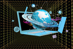 The newest Internet. Technologies and digital internet communications Stock Photos