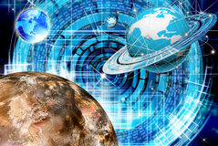 The newest Internet. Technologies and digital internet communications Stock Images