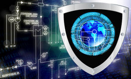 Connection. Cybersecurity. The newest Internet technology. Connection. Cybersecurity Stock Photos