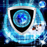 Internet. Connection. Cybersecurity Royalty Free Stock Image