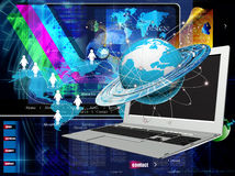 The newest Internet technology. The newest Internet technologies and digital internet communications Stock Photography