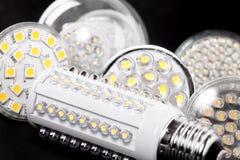 Newest LED light bulb on black Stock Photos