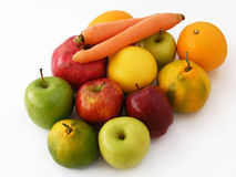 Newest and most beautiful winter fruit, apple, quince, orange, carrot, pomegranate, pictures Stock Photography