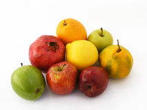 Newest and most beautiful winter fruit, apple, quince, orange, carrot, pomegranate, pictures Royalty Free Stock Photos