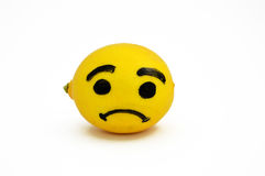 Newest and most interesting crying face lemon pictures Royalty Free Stock Photography