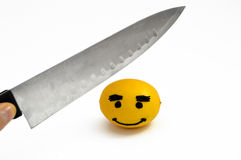 Newest and most interesting smiley face lemon pictures Royalty Free Stock Photos