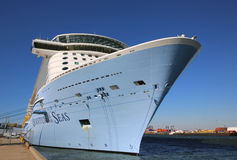 Newest Royal Caribbean Cruise Ship Quantum of the Seas docked at Cape Liberty Cruise Port before inaugural voyage Stock Photography
