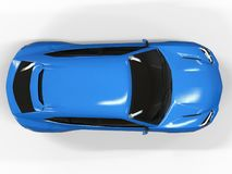 The newest sports all-wheel drive blue premium crossover in a white background. 3d rendering. The newest sports all-wheel drive blue premium crossover in a Stock Photography