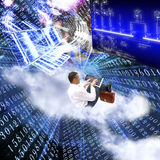 The newest the technology Internet. Solve global information problems Royalty Free Stock Photography