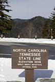 Newfound Gap in the Great Smoky Mountains Stock Photo