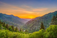 Newfound Gap Smoky Mountains royalty free stock photography