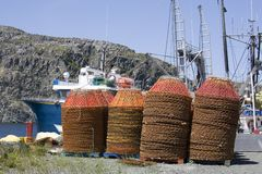 Newfoundland Crab Pots Royalty Free Stock Image
