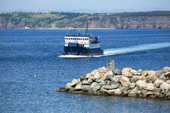 Newfoundland Ferry. Newfoundland car ferry traveling from Belle Island to the mainland of Newfoundland, Canada royalty free stock image