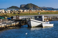 Newfoundland Fishing Boas Royalty Free Stock Photography