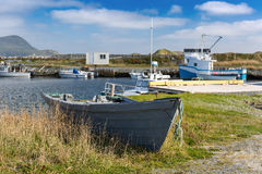 Newfoundland Fishing Boas Stock Photography