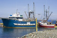 Newfoundland Fishing Boats Stock Photography