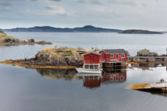 Newfoundland fishing shacks NL Atlantic Canada Royalty Free Stock Image