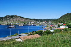 Newfoundland fishing village Royalty Free Stock Photo