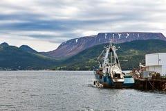 Newfoundland fiskebåt Fotografering för Bildbyråer