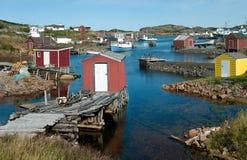 Newfoundland fiskeläge Arkivfoto