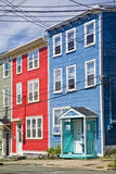 Newfoundland Houses. Unique architecture in the colorful houses on the steep streets of St. John's, Newfoundland Royalty Free Stock Photography