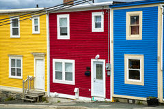 Newfoundland Houses. The unique architecture of the homes in downtown St. John's, Newfoundland, Canada Royalty Free Stock Photography