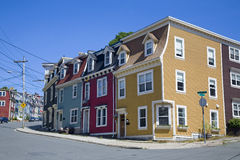 Newfoundland Houses. The unique architecture of the homes in downtown St. John's, Newfoundland, Canada stock images