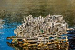 Newfoundland hummerfällor Arkivfoto