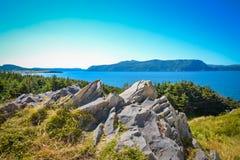 NEWFOUNDLAND/KANADA - AUGUSTI 2014: SOMMAR PÅ NEWFOUNDLAND Fotografering för Bildbyråer