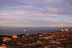 Newfoundland. Labrador coastal drive sunset view Stock Photo