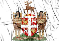 Newfoundland and Labrador coat of arms, Canada. Stock Image