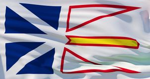 Newfoundland and Labrador flag background, High quality 3d illustration, Realistic texture.  royalty free illustration