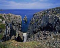 Newfoundland. Rocky shore in Bonavista peninsula, Canada royalty free stock photography