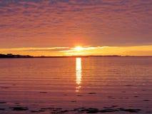 Newfoundland sunset 2016 Stock Photography