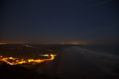 Newgale beach at night Royalty Free Stock Photography