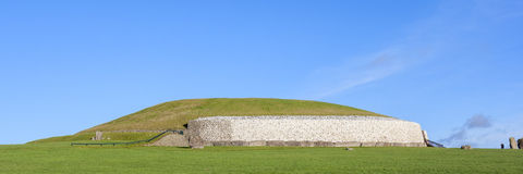 Newgrange in Ireland. This building is UNESCO World heritage site Royalty Free Stock Photos