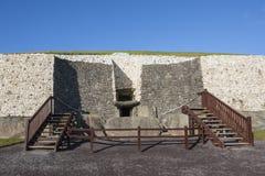 Newgrange in Ireland stock photography