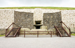Newgrange megalithic passage tomb entrance Stock Images