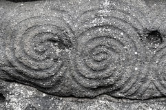 Newgrange spiral Stock Photography