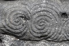 Newgrange-Spirale Stockfotografie