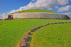 Newgrange voorhistorisch monument in Provincie Meath Ierland Royalty-vrije Stock Afbeeldingen