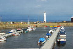 Newhaven Harbour on Forth estuary Royalty Free Stock Images