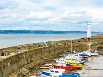 Newhaven Lighthouse. Edinburgh, Scotland, UK stock photo