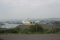 Newhaven to Dieppe ferry in the port of Newhaven royalty free stock photos