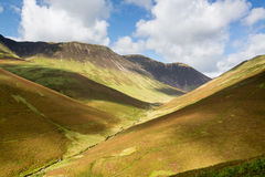Newlands Pass in Lake District in England Stock Image