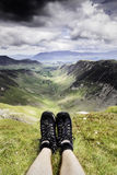 Newlands Valley. Overlooking Newlands valley on a stormy day stock images
